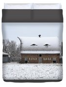 Snow On The Roof Duvet Cover