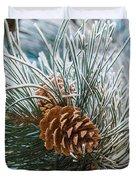 Snowy Pine Cones Duvet Cover