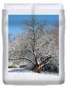 Snowy Tree Duvet Cover