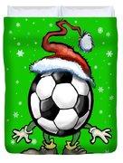 Soccer Christmas Duvet Cover