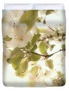 Soft White Flowers Duvet Cover