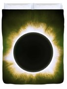 Solar Eclipse In Infrared Duvet Cover