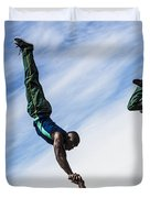 South African Street Acrobats  Duvet Cover