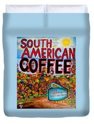 South American Coffee Duvet Cover