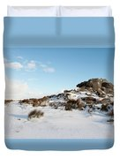 South Hessary Tor In The Snow II Duvet Cover