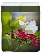 Southern White Butterfly  Duvet Cover
