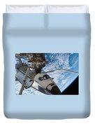 Space Shuttle Endeavour, Docked Duvet Cover