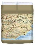 Spain Map Duvet Cover