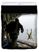 Special Operations Jumpers Exit A C-130 Duvet Cover
