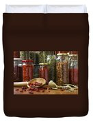 Spicy Still Life Duvet Cover by Carlos Caetano