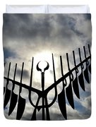 Spirit Catcher Against The Sky  Duvet Cover