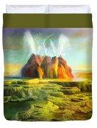 Spitting-fly Geyser In Nevada Duvet Cover