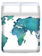Spray Paint Map Duvet Cover