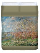 Spring Duvet Cover by Claude Monet