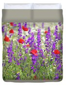 Spring Meadow With Wild Flowers Duvet Cover