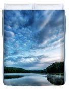 Spring Morning On The Lake Duvet Cover