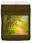 Spring Pathways Duvet Cover