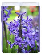 Spring Time With Blooming Hyacinth Flowers In A Garden Duvet Cover