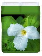 Spring Trillium Duvet Cover