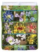Spring Wildflowers II Duvet Cover