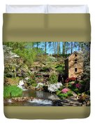 Springtime At The Old Mill Duvet Cover