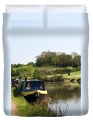 Springtime By The Canal Duvet Cover