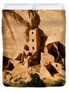 Square Tower Ruin Duvet Cover