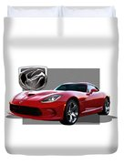 S R T  Viper With  3 D  Badge  Duvet Cover