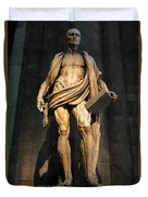 St. Bartholomew In Milan Cathedral By Marco D'agrate Duvet Cover