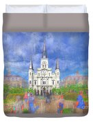 St Louis Cathedral  Duvet Cover