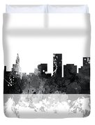 St Paul Minnesota Skyline Duvet Cover