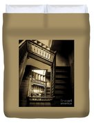 Staircase In Swannanoa Mansion Duvet Cover