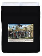 Stamp Act: Repeal, 1766 Duvet Cover