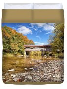 State Road Covered Bridge Duvet Cover
