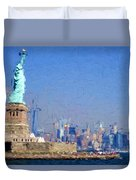 Statue Of Liberty, Nyc Duvet Cover