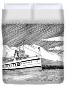 Steamship Virginia V Duvet Cover