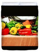 Still Life - Vegetables Duvet Cover