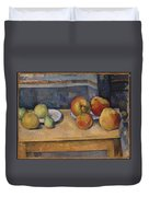 Still Life With Apples And Pears Duvet Cover