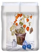 Still Life With Chinese Lanterns Duvet Cover