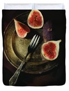 Still Life With Fresh Figs Duvet Cover