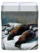 Still Life With Pheasants And Plovers Duvet Cover
