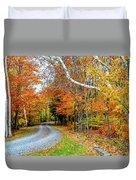 Stone Autumn Road Duvet Cover