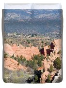 Stone Quarry At Red Rock Canyon Open Space Park Duvet Cover