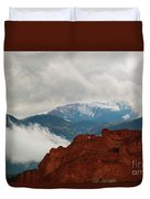 Storm Brewing At Garden Of The Gods Duvet Cover