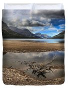 Storms Over Upper Waterton Lake Duvet Cover