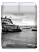 Stormy Bonsai Rock Duvet Cover