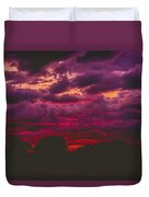 Stormy Sunset Duvet Cover