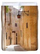 Street Sceane Mdina,malta Duvet Cover