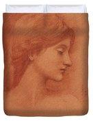 Study Of A Female Head Duvet Cover