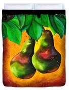 Study Of Two Pears Duvet Cover